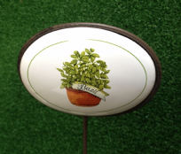 Vegetable Patch Ceramic Herb Plant Marker ~ Basil